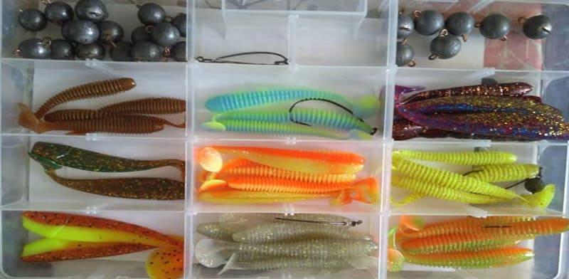 Силиконовые наживки для рыбалки: виды и применение